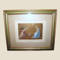 "Beautifully Framed Lithographic Print of ""The Annunciation"" (Beato Angelico)"