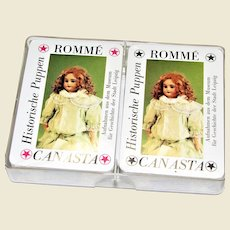 Pair German Historic Doll Museum Collectors Playing Cards, 2 Decks, (Rummy Canasta) Like New, Rare