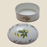 """A Lovers Kiss"" Floral Bone China Trinket Box by Royal Adderley"