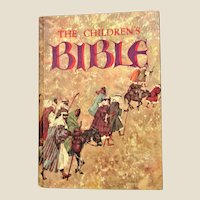 The Children's Bible, Blank Dedication Page (c1965, Golden Press), Wonderful Illustrations, Nearly New