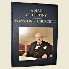 A Man of Destiny Winston S Churchill by Country Beautiful 1965 1st Edition Hardcover, Nearly New