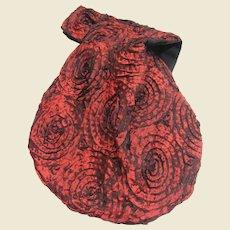 Japanese Knot Wrist Bag in Swirled Ribbon Fabric