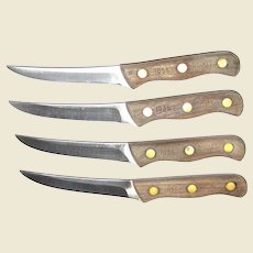 Four Vintage 1970's Chicago Small Carving or Paring Knives