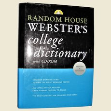 Random House Webster's College Dictionary Revised and Updated, HCDJ Like New