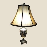 Art Deco Silver Plated Reading Lamp, Bouillotte Rising Shade