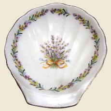 Flambro Sweet Lavender Bone China Trinket Dish