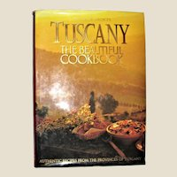 Tuscany The Beautiful Cookbook by Lorenza De'Medici and HarperCollins Publisher, HCDJ 1st Edition, Large, Near Mint