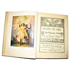 1918, Joan of Arc by Lucy Foster Madison, Illustrated by Frank E. Schoonover HC The Penn Publishing Company