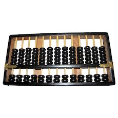 Large Vintage Chinese Wooden 13 Row Abacus