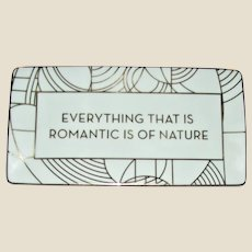 Frank Lloyd Wright Design Porcelain Tray in Original Box, Like New