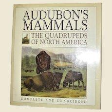 Audubon's Mammals: The Quadrupeds of North America, HCDJ Large, Nearly New