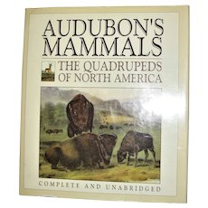 Audubon's Mammals: The Quadrupeds of North America, HCDJ Large, Nearly New