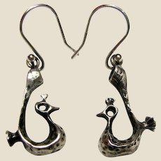 Vintage Rajasthani Sterling Silver Earrings