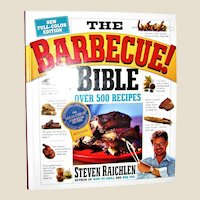 The Barbecue Bible Book by Steven Raichlen HC Like New