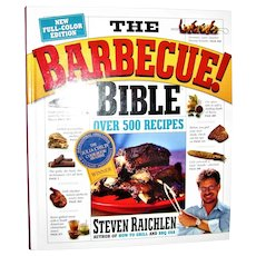 The Barbecue! Bible Book by Steven Raichlen HC Like New