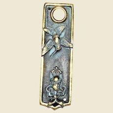 """Hummingbird """"Flora & Fauna"""" Doorbell, Solid Brass 5"""" x 1 1/2"""""""