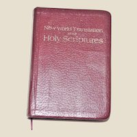 New World Translation of the Holy Scriptures 1984 Watch Tower Bible, Soft Leather