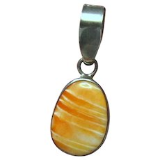 Vernon Begay Navajo Spiny Oyster 925 Pendant
