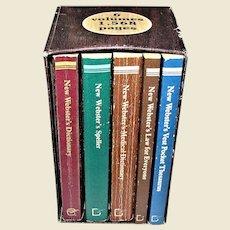 The New Webster's Desk Reference Library (1981, Paperback) 6 volumes Pocket Size