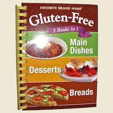 Gluten-Free 3 Books in 1 Cookbook, Spiral HC Favorite Brand Name, Like New