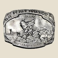 Belt Buckle Pearl Harbor 50th Anniversary Ltd Edition by Siskiyou