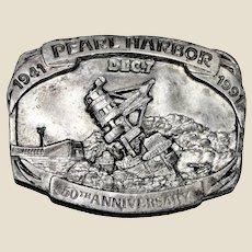 Belt Buckle Pearl Harbor 50th Anniversary Ltd Edition by Siskiyou