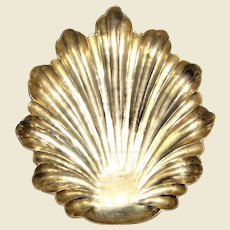 Large Heavy Brass Leaf Form Trinket or Ashtray