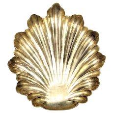 Large Heavy Brass Leaf Form Trinket or Ashtray