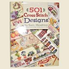 501 Cross-Stitch Designs by Sam Hawkins HCDJ 1993, Better Homes and Gardens, Like New