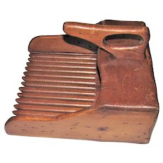 19th Century Wood Cranberry Picker Scoop Rake, Primitive Tool Farmhouse, Museum Quality