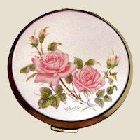 Stratton Rose Design Powder Compact