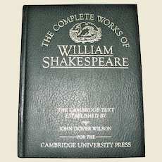The Complete Works of William Shakespeare - The Cambridge Text, John Dover Wilson, 1981 Hardcover