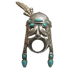 St. Labre Pin of Native American War Cry