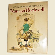102 Favorite Paintings by Norman Rockwell, Beautifully Illustrated HCDJ 1978
