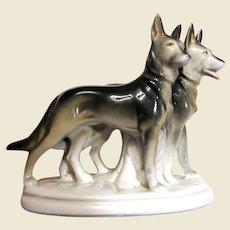 Scheidig Reichmannsdorf Porcelain Dog Figurine