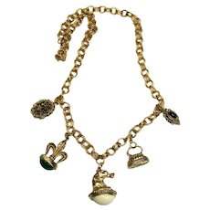 "Gothic ""Watch Fob"" Statement Costume Necklace"
