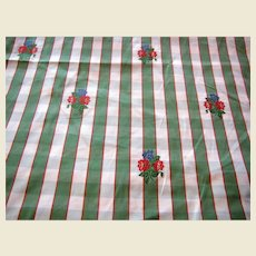 6 Yd Bolt End of French Provincial Floral Plaid