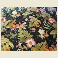 2 Yd Remnant of 14 Color Screen Printed Botanical Print by Jay Yang