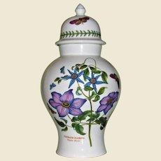 "Portmeirion Botanic Garden 12"" Ginger Jar / Urn, Mint"