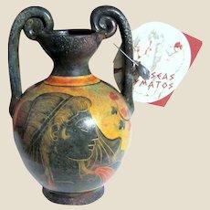 Odysseas Koumatos Greek Terracotta Vase in the Style of the Ancient Greeks