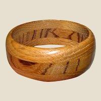 Hand Turned Oak Bangle w/ Lovely Grain