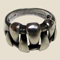 Vintage Sterling Designer Ring by CNA of Thailand. Sz 6