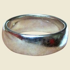 Wide Sterling Wedding Band Style Ring Size 7 1/4, 6 grams
