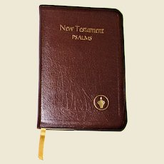 New Testament and the Psalms ~ 1964 Gideon Bible ~ Self Pronouncing Edition, Leather Bound, Nearly New