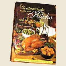 The Austrian Kitchen (Die Osterreichgische Kuche) by Rokitansky, Hardcover (Deutsch) German Text, Like New
