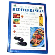 The Best Ever Mediterranean Cookbook by Farrow and Clark HCDJ Like New