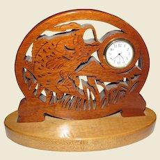 Big Mouth Bass Wood Fretwork Scrollsaw Clock
