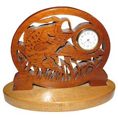 Big Mouth Bass Wood Fretwork Scrollsaw Clock
