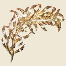 Elegant Goldtone Fern Leaf Pin
