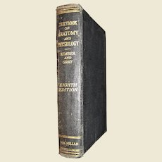 """""""Textbook Of Anatomy And Physiology"""" by Diana Kimber. Hardcover 8th Edition 1931"""